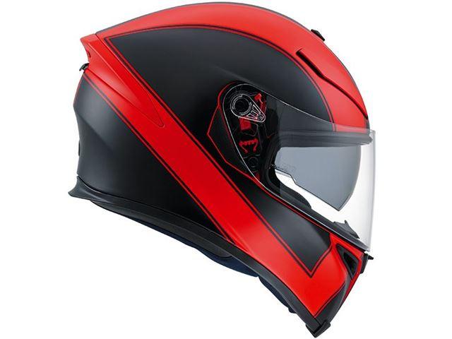 AGV K-5 Enlace Red/Matte Black