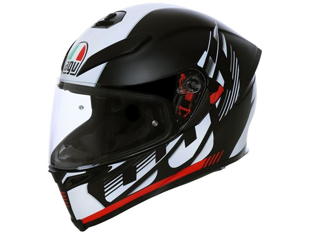 AGV K-5 S Darkstorm black/red S