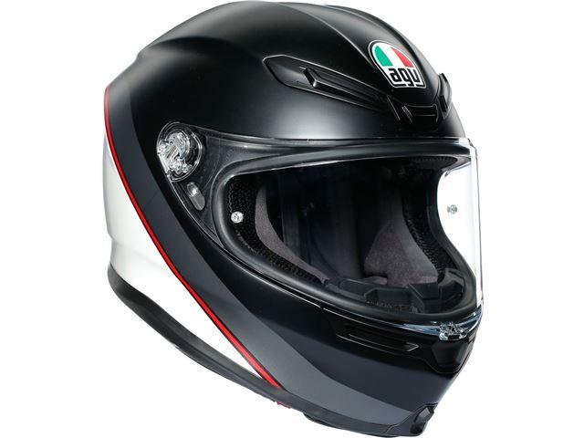 AGV K6 Minimal Mat Black/White/Red XXL