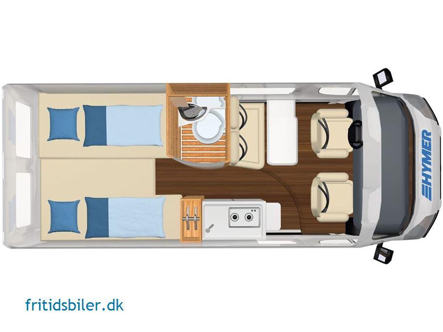 Hymer Campervan. Free 602. 2,3 120 HK