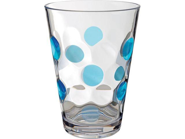 Brunner blå Baloon drikkeglas, 2 stk