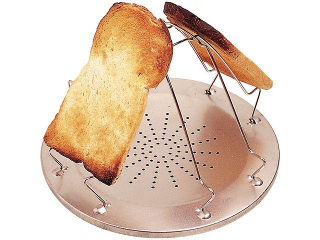 Foldbar toaster til gaskomfuret.