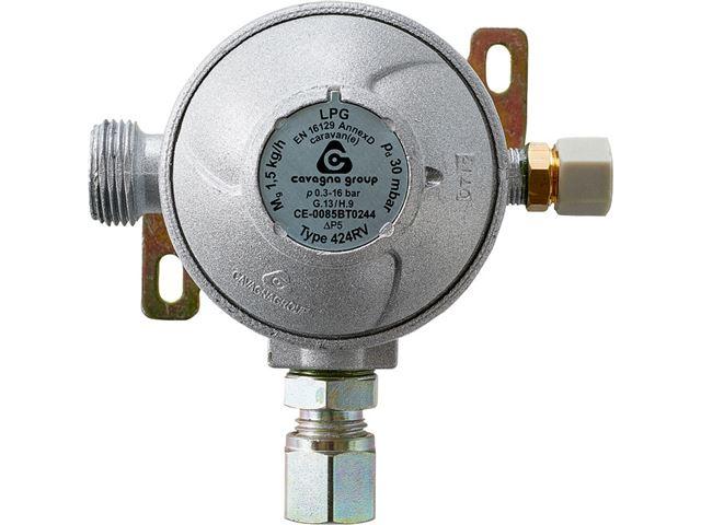 Gasregulator, 10 mm med aut. omskifter og testpoint