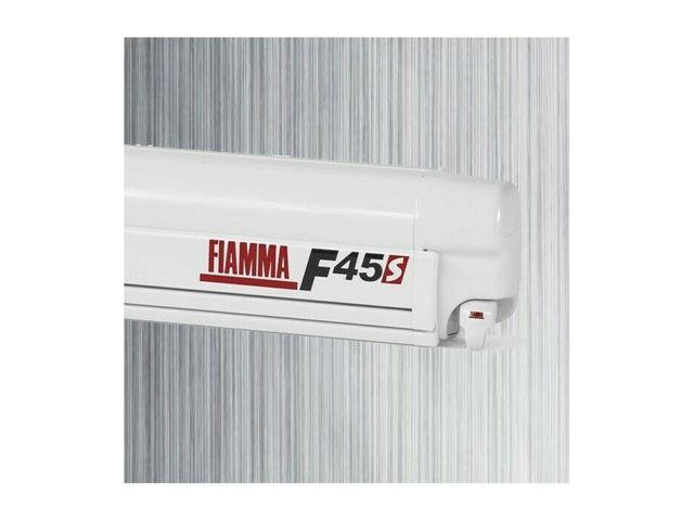 Fiamma F45 S markise, Royal Grey, hvid boks, L 4,50 meter