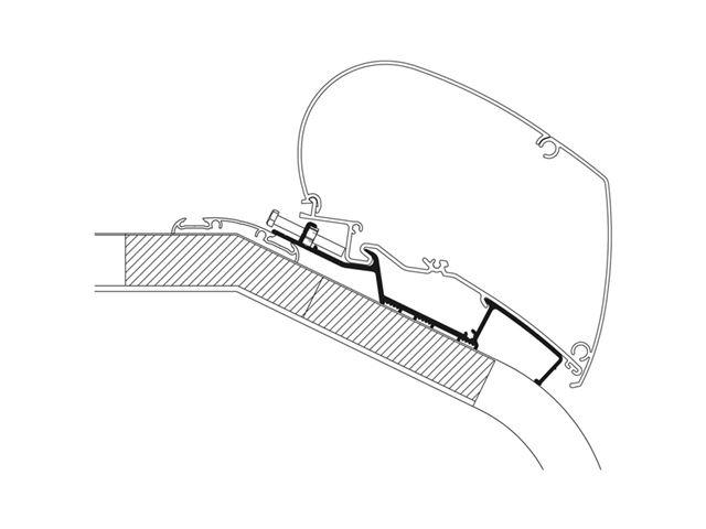 Adaptersæt til serie 6/9, LMC Liberty 6,00 meter markise