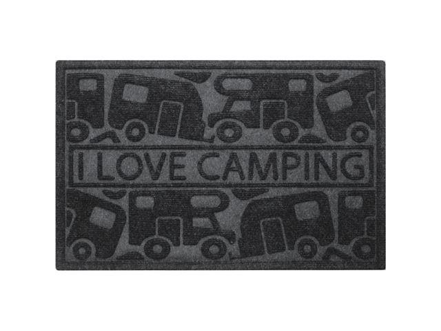 """Dørmåtte """"I love camping"""""""