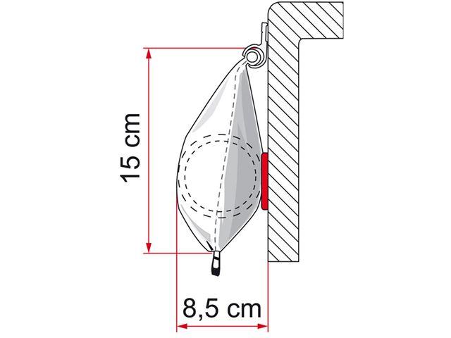 Fiamma Caravanstore markise, Royal Grey, L 1,90 meter