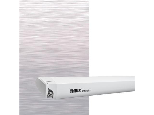 Thule Omnistor markise 6300 L 5,00 m. Mystic grey, hvid boks.