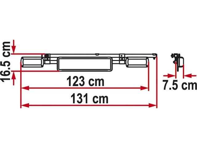 Nummerpladeholder til Carry-Bike - kan vippes