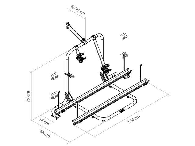 Thule Sport G2 - Garage til 2 (4) cykler