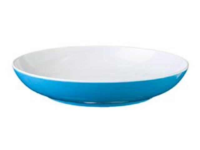 Blå Spectrum dyb tallerken, aquablå