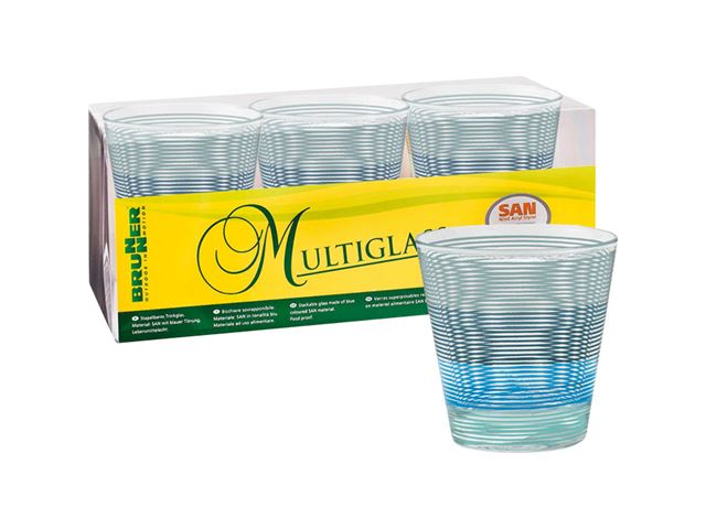 Blå Spectrum glas - pakke med 3 stk.