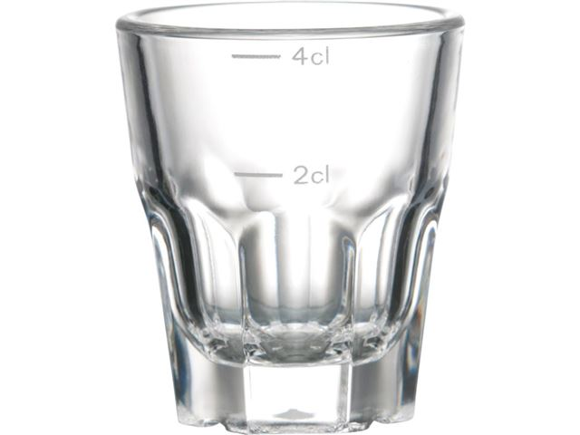 Granity snapseglas sæt, 4 cl. 6 stk.