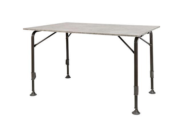 Campingbord Moderna. 120 x 80 cm. Farve: lysgrå.