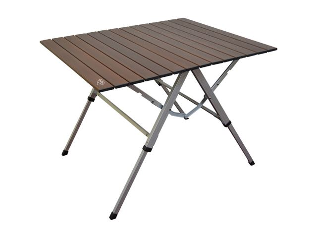 Campingbord One Action. 81 x 60 cm. Farve: brun.