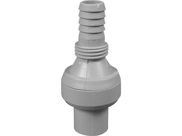 Tilbageløbsventil til pumpe/slange, Ø 10 mm