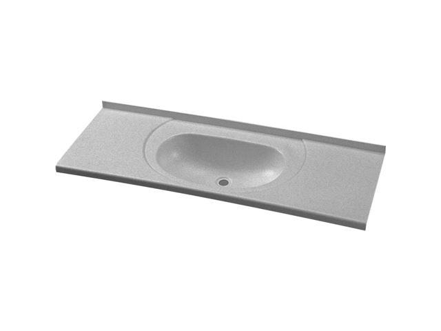 Plastikvask til toiletrum, 895 x 315 mm, hvid