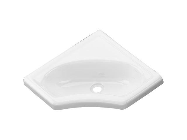 Hjørnevask, hvid, 445 mm