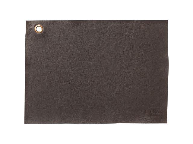Rosendahl dækkeserviet, læder. 43 x 30 cm. Brun.