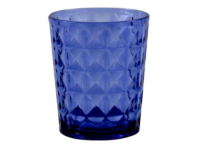 Vandglas Stone Line, Azure blå - Sæt med 2 stk.