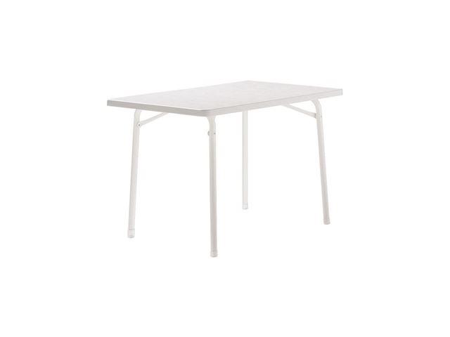 Sieger campingbord – 70x115 cm - Hvid