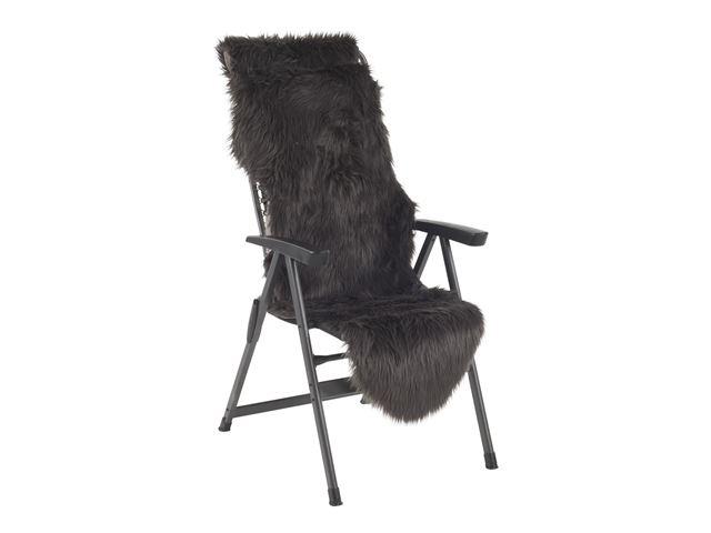 Kunstigt pelsskind 60x180cm - Mørkegrå