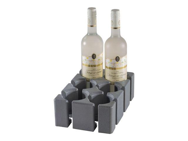 Flaske/glasholder til 6 flaske - skuffeindretning