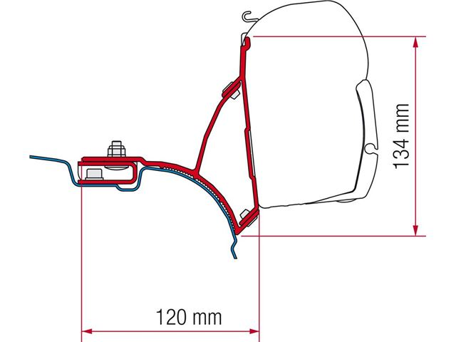 """Adaptersæt til Fiamma """"VW T5 Multivan"""""""