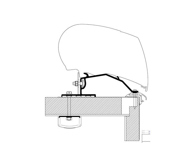 Monteringsbeslag for Thule tagmonteret markise til LMC
