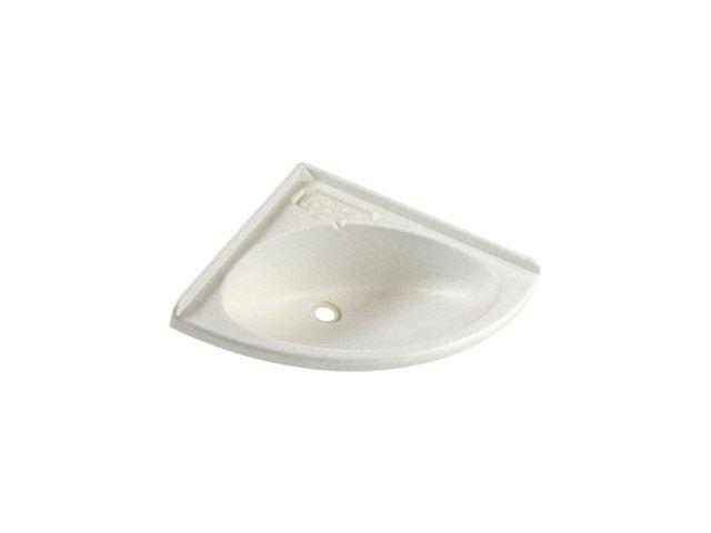 Trekantvask 420x420 mm hvid