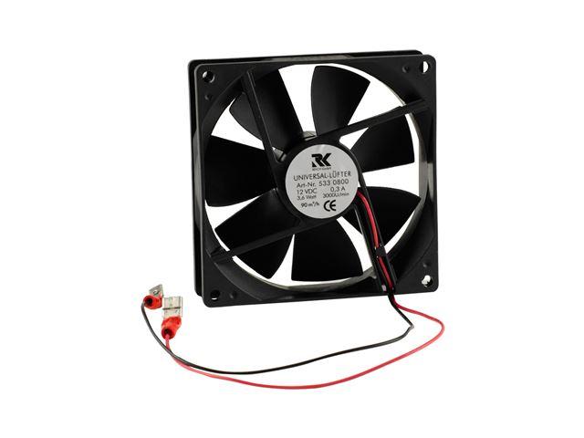 Ventilator 12 V med termostat