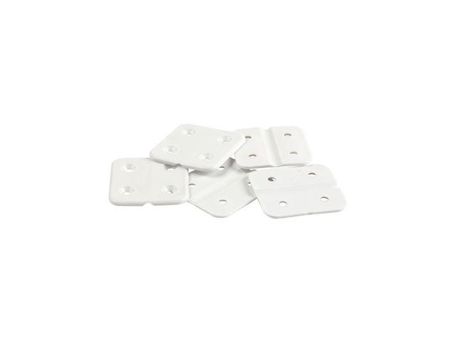 Plasthængsel hvidt  (5 stk.)