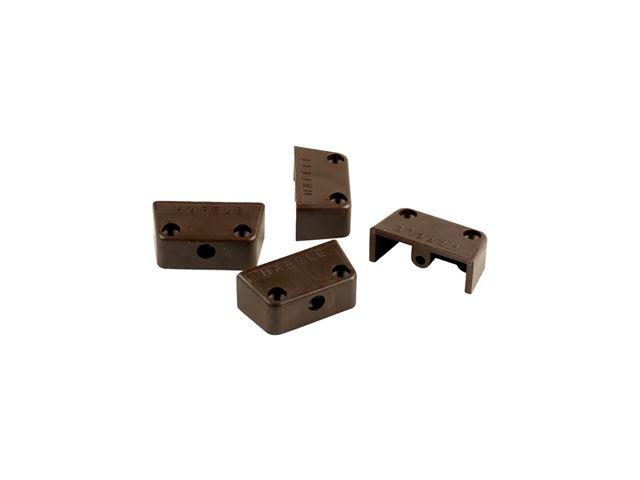 Møbelbeslag brunt 4 stk.