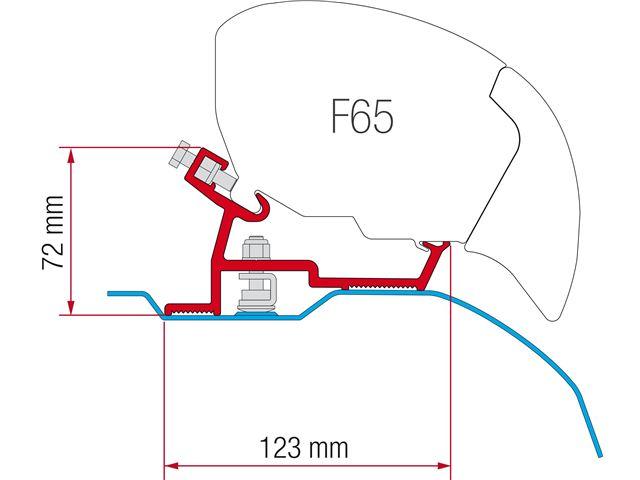Adapter til Fiamma F65/F65S, o