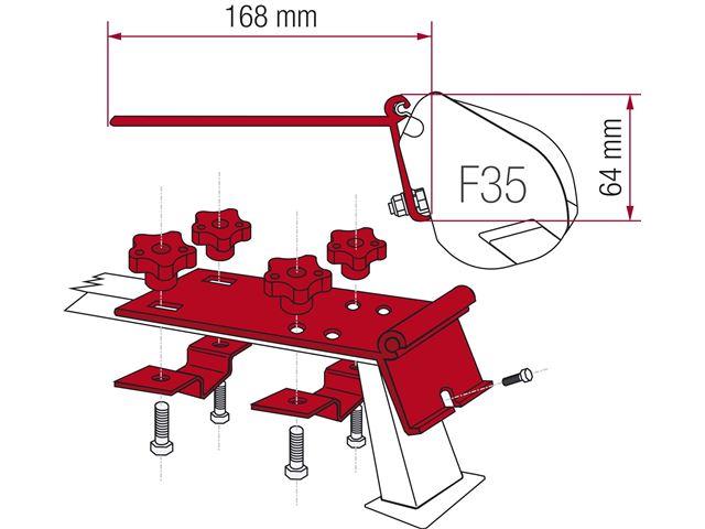 Beslag til Fiamma F35 Pro