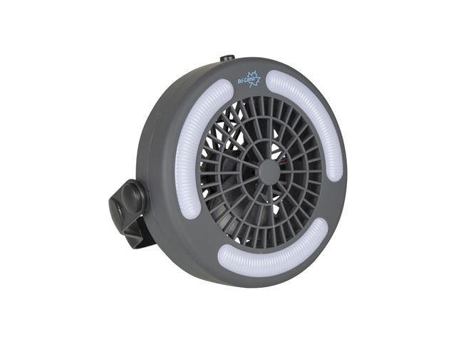 Lampe med ventilator