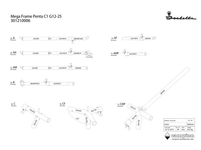 Mega Stel Penta C1 12/25 MegaFix