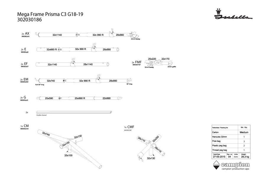 Mega stel Prisma C3 18/19 MegaFix
