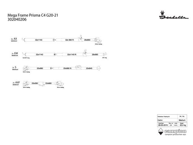 Mega stel Prisma C4 20/21 MegaFix