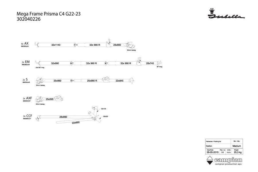 Mega stel Prisma C4 22/23 MegaFix