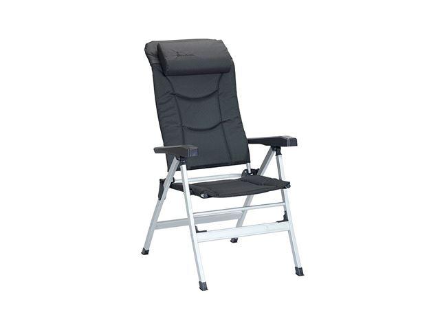Isabella Thor positionsstol med polster og nakkestøtte, Mørkegrå
