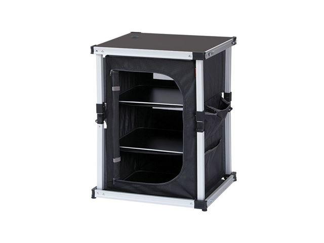 Isabella opbevaringskab, enkelt - Mørkegrå/sort