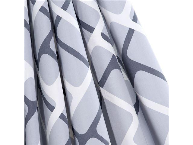 Gardinsæt Isabella standard Collage Grey 12 stk