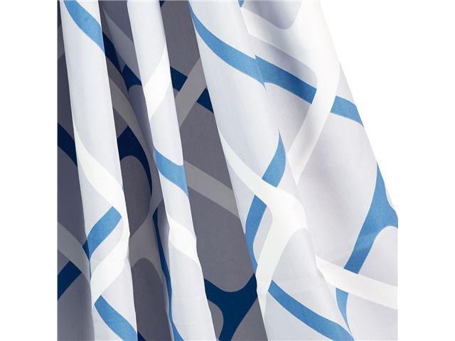 Gardinsæt Isabella standard Collage Blue 6 stk
