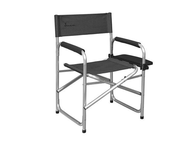 Instruktørstol med sidebord, Dark Grey