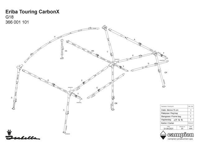 CarbonX stel Eriba Touring