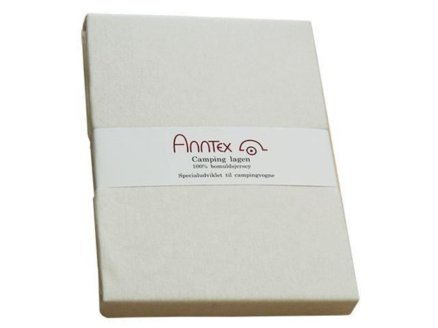 AnnTex lagen t/fransk seng 140 cm. Hvid, højresving
