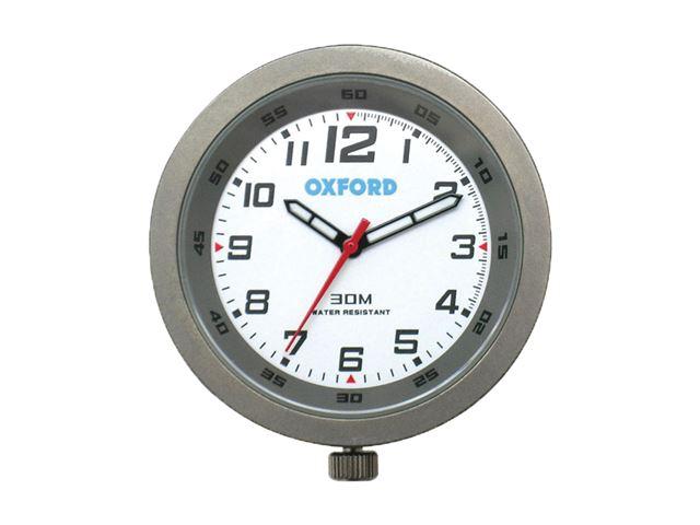 Oxford Clock-Titanium case & white face