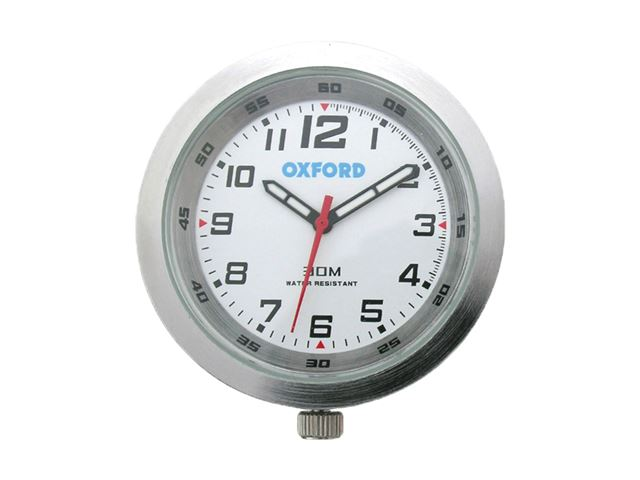 Oxford Clock -Silver case & White face