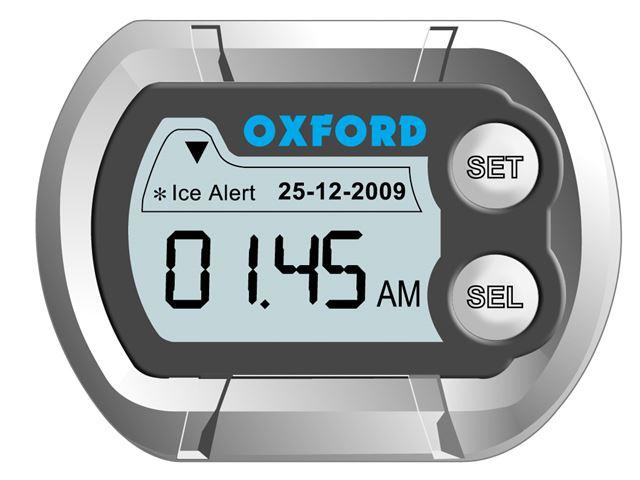 Deluxe digital clock Temp & Ice warner